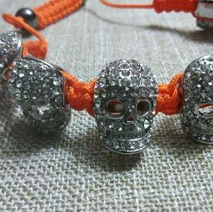 Jewelry - Diamond Studded Macrame Drawcord Bracelet